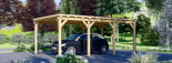 Carport en bois MODERN, 3x6 m, 18 m² visualization 5