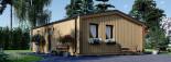 Chalet en bois habitable ANGELA (44 mm + bardage, RT2012), 50 m² visualization 5