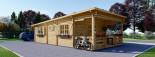 Chalet en bois à toit plat HYMER (66 mm), 42 m² + 10 m² terrasse visualization 6
