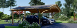 Carport en bois BETSY DUO, 6.15x6 m, 36.9 m² visualization 2