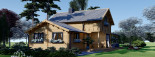Chalet en bois HOLLAND (44+44mm) 113m + 13m terrasse visualization 1