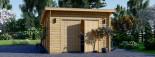 Garage en bois à toit plat MODERN (44 mm), 4x6 m, 24 m² visualization 3