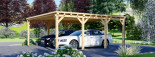 Carport en bois double MODERN, 6x6 m, 36 m² visualization 5