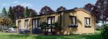 Chalet en bois habitable NICOLE (44 mm + bardage, RT2012), 78 m² visualization 2