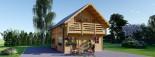 Chalet en bois habitable 2 etages LANGON (44+44 mm, RT2012), 95 m² visualization 2