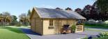 Chalet en bois avec mezzanine ANGERS (44+44 mm, RT2012), 36 m² + 19 m² terrasse visualization 7