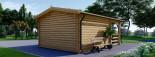 Abri de jardin SHANON (66 mm), 16 m² + 6 m² terrasse visualization 4