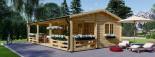 Chalet en bois AMELIA (66 mm), 32 m² + 20 m² terrasse visualization 1