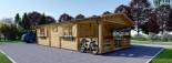Chalet en bois HYMER (66 mm), 42 m² + 10 m² terrasse visualization 6
