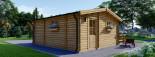 Chalet en bois ALTURA (44+44 mm, RT2012), 31m² +  8 m² terrasse visualization 6