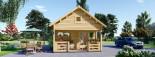 Chalet en bois à étage ALBI (44 mm) 20m²+ 8m² terasse  visualization 3