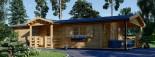 Chalet en bois DONNA PLUS (44 mm), 63 m² + 11.5 m² terrasse visualization 2