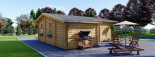 Chalet en bois DIJON (44 mm), 44 m² visualization 3