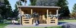 Abri de jardin ROYAL (44 mm), 5x5 m, 25 m² visualization 3