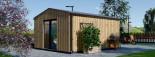 Bureau de jardin TINA (44 mm + bardage), 4x4 m, 12 m² + 3.5 m² auvent visualization 5