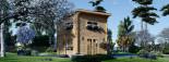Chalet en bois à toit plat AVIGNON (44 mm), 19.9 m² + 16 m² étage  visualization 3