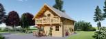 Chalet en bois habitable 2 etages LANGON (44+44 mm, RT2012), 95 m² visualization 7