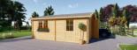 Garage en bois double (44 mm), 6x6 m, 36 m² visualization 6