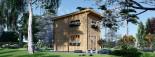 Chalet en bois à toit plat AVIGNON (44 mm), 19.9 m² + 16 m² étage  visualization 4