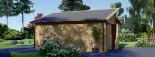 Garage en bois TWIN (44 mm), 4x6 m, 24 m² visualization 6