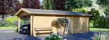 Carport en bois avec abri, 4x7.5 m, 30 m² visualization 5