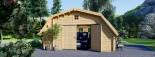 Garage en bois TEXAS (44 mm), 6x6 m, 36 m² visualization 2