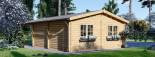 Garage en bois double (44 mm), 6x6 m + carport simple, 3x6 m, 54 m² visualization 6