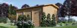 Garage en bois camping car (44 mm), 4x8 m, 32 m² visualization 5