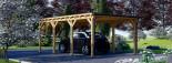Carport en bois MODERN, 3x6 m, 18 m² visualization 4