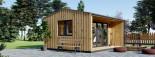 Bureau de jardin TINA (44 mm + bardage), 4x4 m, 12 m² + 3.5 m² auvent visualization 7