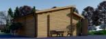 Garage en bois double TWIN (44 mm), 8x6 m, 48 m² visualization 7