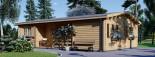Chalet en bois habitable UZES (44+44 mm, RT2012), 70 m² visualization 4