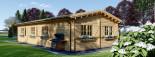 Chalet en bois BERTA (66 mm), 72 m² avec terrasse + 20 m² garage visualization 8