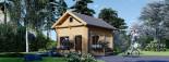 Chalet en bois habitable AVIGNON (44+44 mm, RT2012), 19.9 m² + 16 m² étage visualization 1