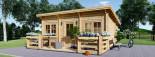 Chalet en bois à toit plat ALTURA (44+44 mm, RT2012), 31m² +  8 m² terrasse visualization 3