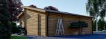 Garage en bois double TWIN (44 mm), 8x6 m, 48 m² visualization 8