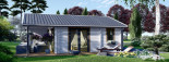 Chalet en bois habitable ADELE (44+44 mm, RT2012), 68 m² visualization 3