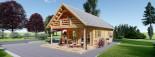 Chalet en bois AURA avec étage (66 mm), 100 m² + 35 m² terrasse visualization 4