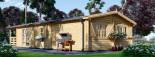Chalet en bois DONNA PLUS (44 mm), 63 m² + 11.5 m² terrasse visualization 6
