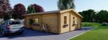 Chalet en bois habitable DIJON (44+44 mm, RT2012), 44 m² visualization 4