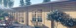 Chalet en bois JULIA (66 mm), 103 m² visualization 10