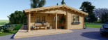 Chalet en bois LINDA (44+44 mm), 78 m² + 38 m² terrasse visualization 8