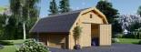 Garage en bois BARN (44 mm), 5x6 m, 30 m² visualization 3