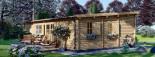 Chalet en bois à toit plat UZES (58 mm), 70 m² visualization 6