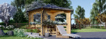 Tonnelle en bois (44 mm), 4x4 m, 16 m² visualization 3
