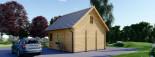 Chalet en bois habitable LIVINGTON (44+44 mm, RT2012), 50m² visualization 5