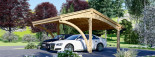 Carport en bois CORA DUO, 5.9x5.9 m, 34.8 m² visualization 5