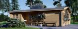 Chalet en bois habitable UZES (44+44 mm, RT2012), 70 m² visualization 3