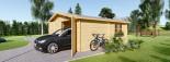 Garage en bois double (44 mm), 6x6 m, 36 m² visualization 5