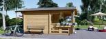 Chalet en bois PARIS (44 mm), 21 m² + 11 m² terrasse visualization 7